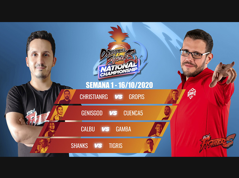 ¡Combates de la semana 1 de la Liga Nacional de DBFZ!